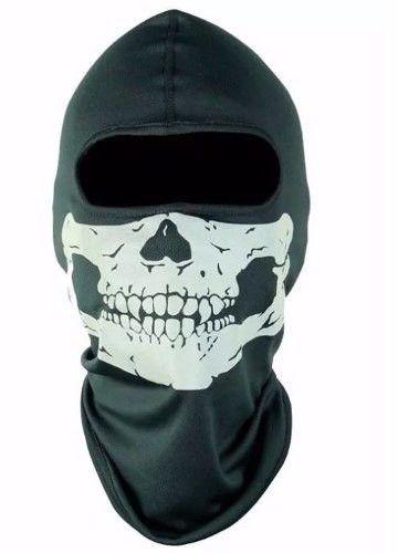 Kit balaclava frio intenso + gola soft + Balaclava Caveira Touca ninja Paintball ciclismo motoqueiro fantasia