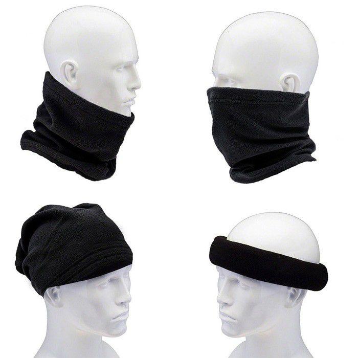 Kit balaclava frio intenso + gola soft + Bandana Balaclava Lisa Tatica Militar PM Moto