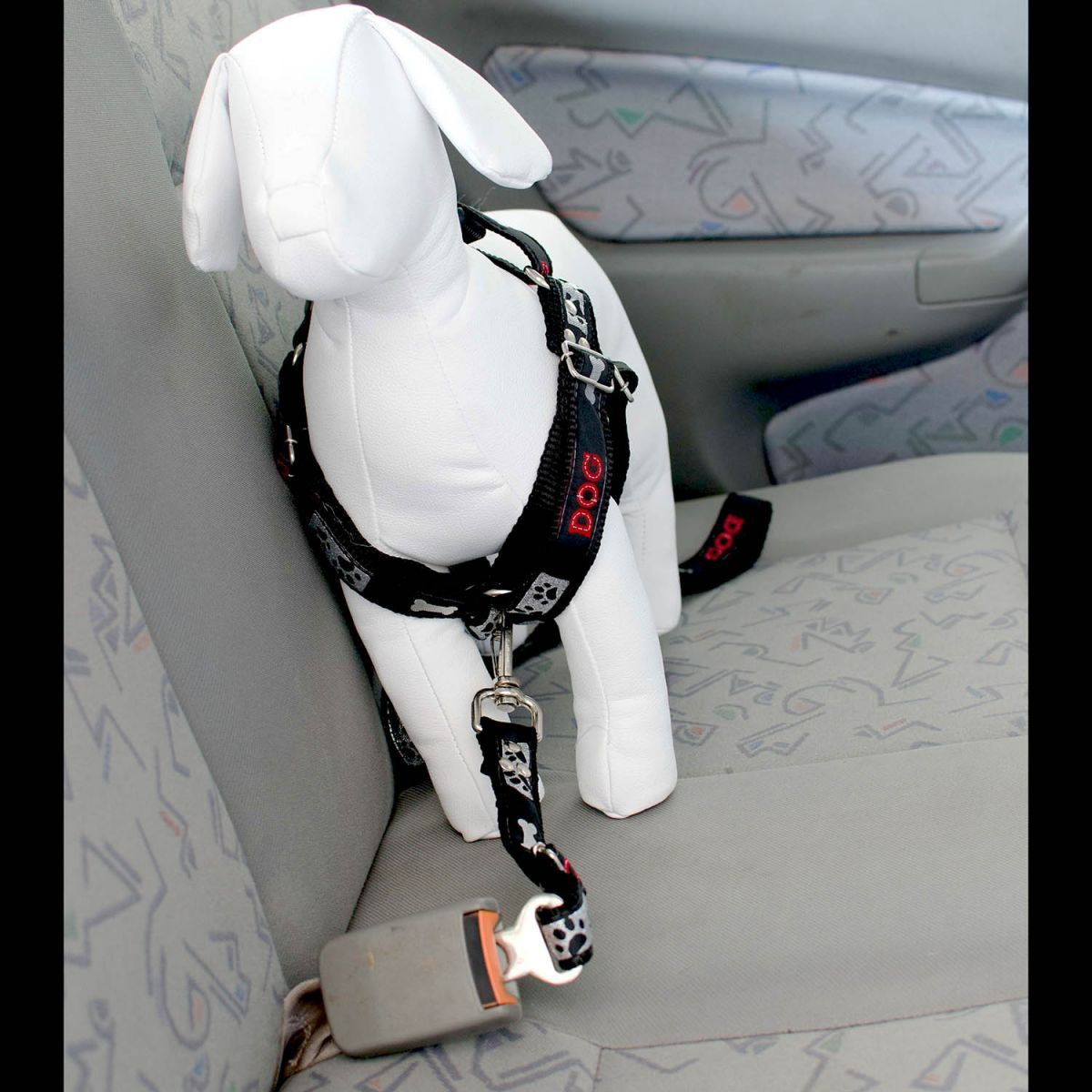 Kit 2x Coleira Peitoral Cachorro Porte Menor Guia Adaptador Cinto Segurança Tamanho M - Cores Rosa e Preta
