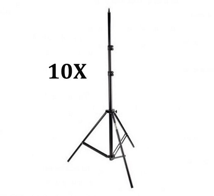 Kit Com 10x Tripé De Iluminação Flash Profissional De 2,8 Metros Estúdio