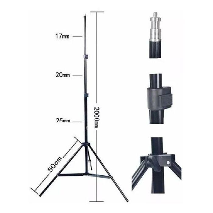 Kit Com 10x Tripé Iluminação 2 Metros De Altura P/ Flash Luz E Estúdio