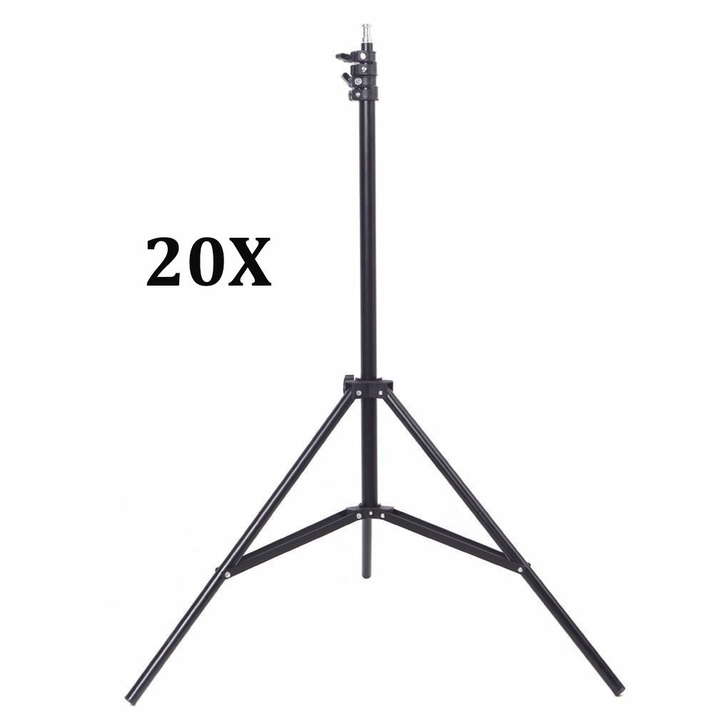 Kit Com 20x Tripé Iluminação 2 Metros De Altura P/ Flash Luz E Estúdio