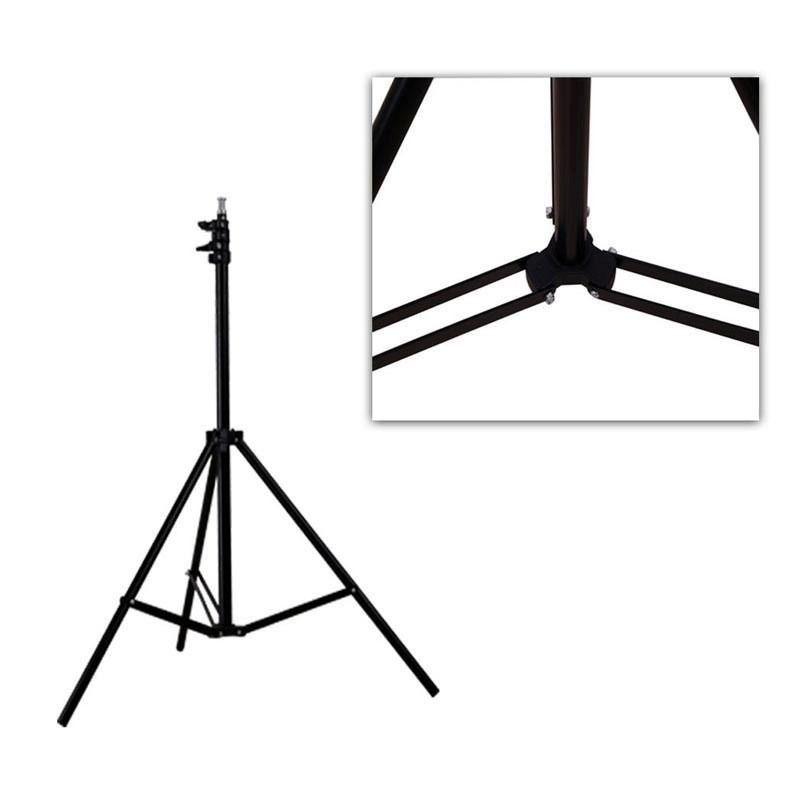 Kit Com 2x Tripé Iluminação 2 Metros De Altura P/ Flash Luz E Estúdio