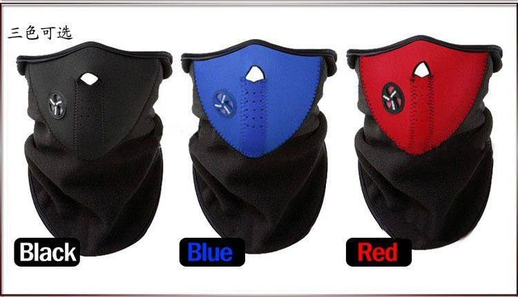 Kit Com 3x Balaclava Neoprene Pescoceira Facial Paintball Moto