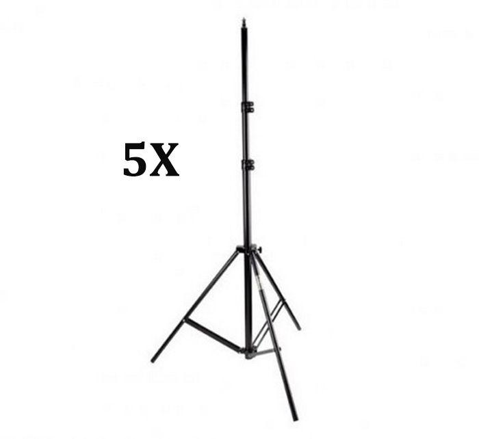 Kit Com 5x Tripé De Iluminação Flash Profissional De 2,8 Metros Estúdio