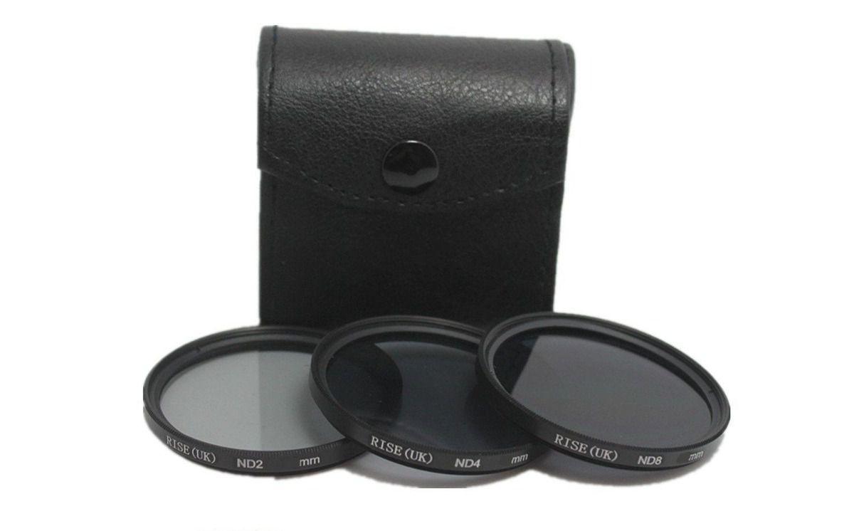 Kit De Filtro Nd2 + Nd4 + Nd8 Rosca 52mm P/ Lentes Canon 50mm 1.8 II ou Nikon Af-s 18-55mm + Case