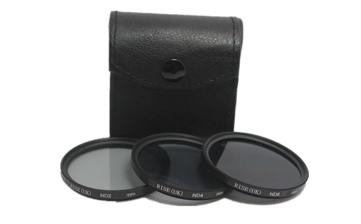 Kit De Filtro Nd2 + Nd4 + Nd8 Rosca 58mm P/ Lentes Canon 18-55mm ou Canon Ef 75-300mm F/4.0-5.6 Iii + Case