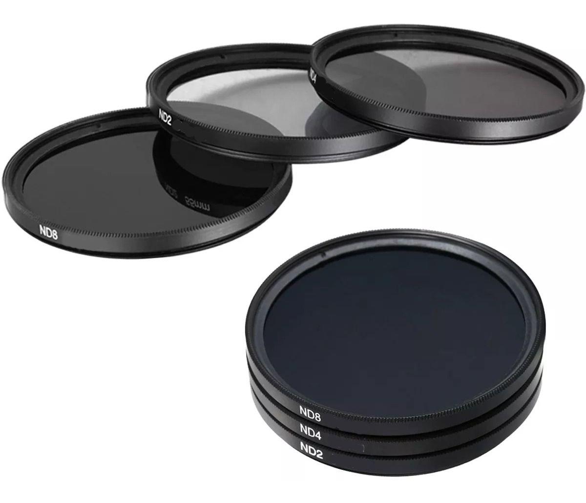 Kit De Filtro Nd2 + Nd4 + Nd8 + Case 82mm Nikon Sony Canon