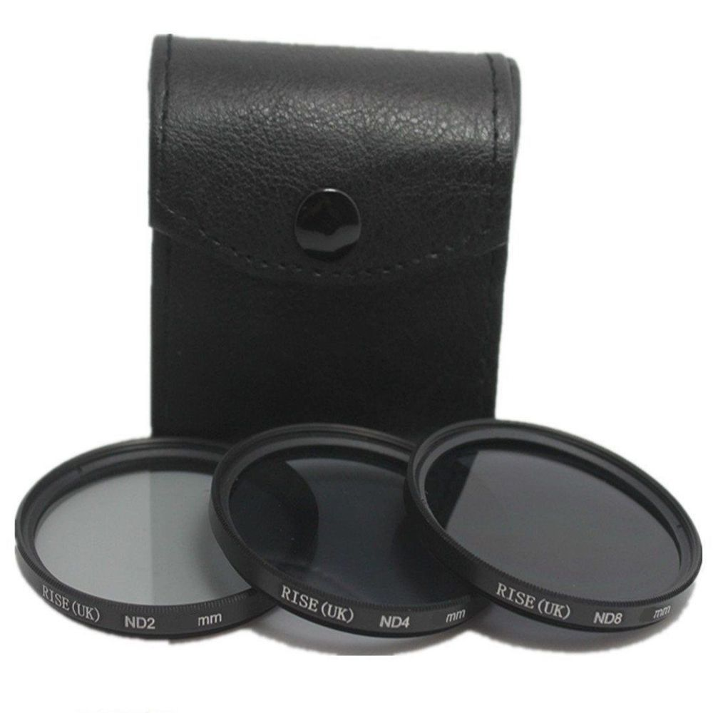 Kit De Filtro Nd2 + Nd4 + Nd8 Rosca 72mm P/ Lentes Sigma 17-70mm F/2.8-4 Dc ou Canon ef 28-135mm F/3.5-5.6 Is Usm + Case
