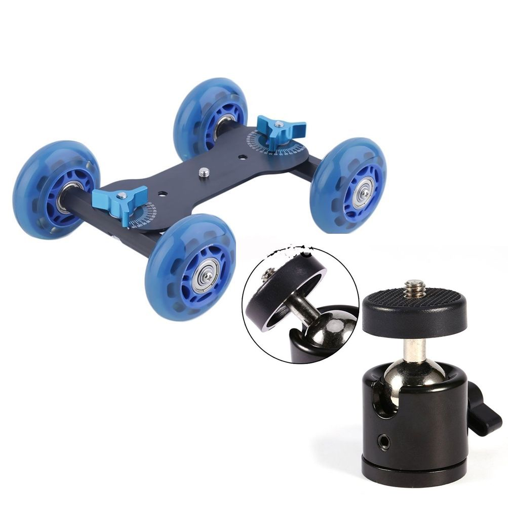 Kit Dolly Slider Skate C/ Ball Head Articulado 360 Filmagem