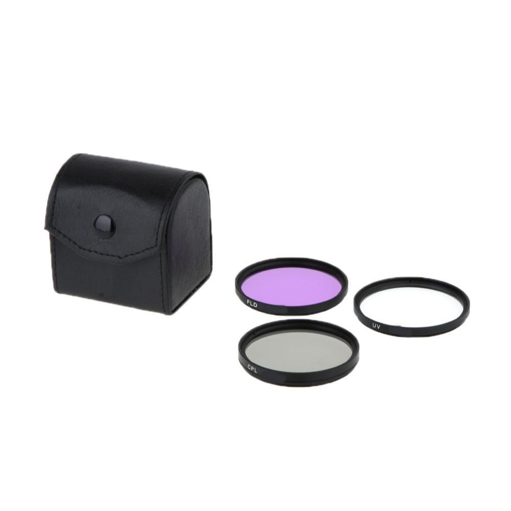 Kit Filtro Uv Cpl Fld De 62mm Lente Nikon Sony Canon Fuji