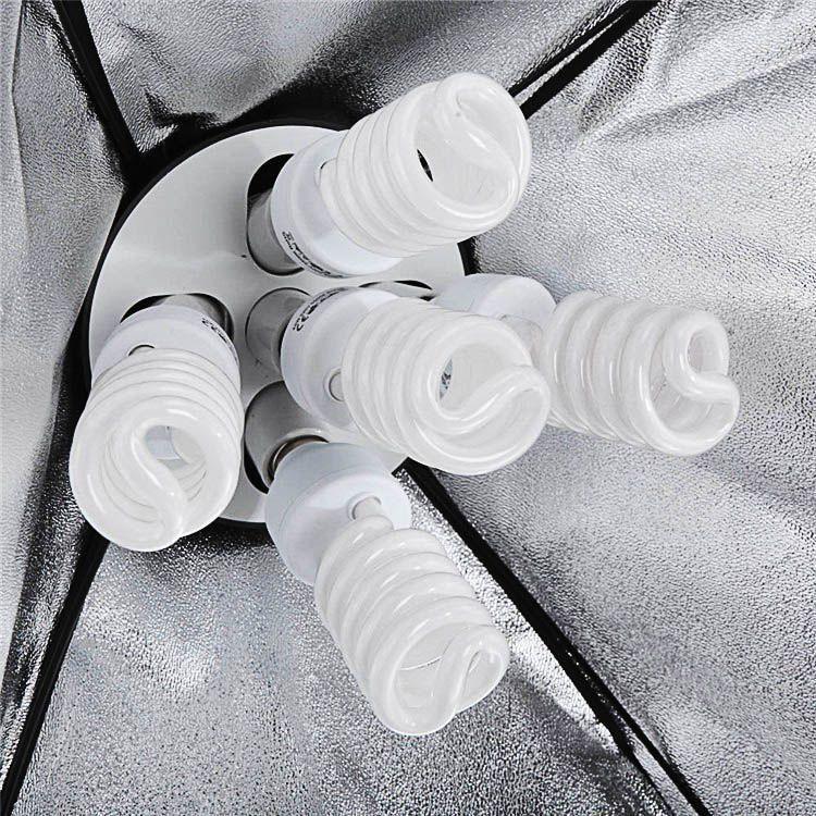 Kit Iluminação Fotográfica KIF0002 Estudio Softbox 60x90 Soquete 15 Lampadas E27