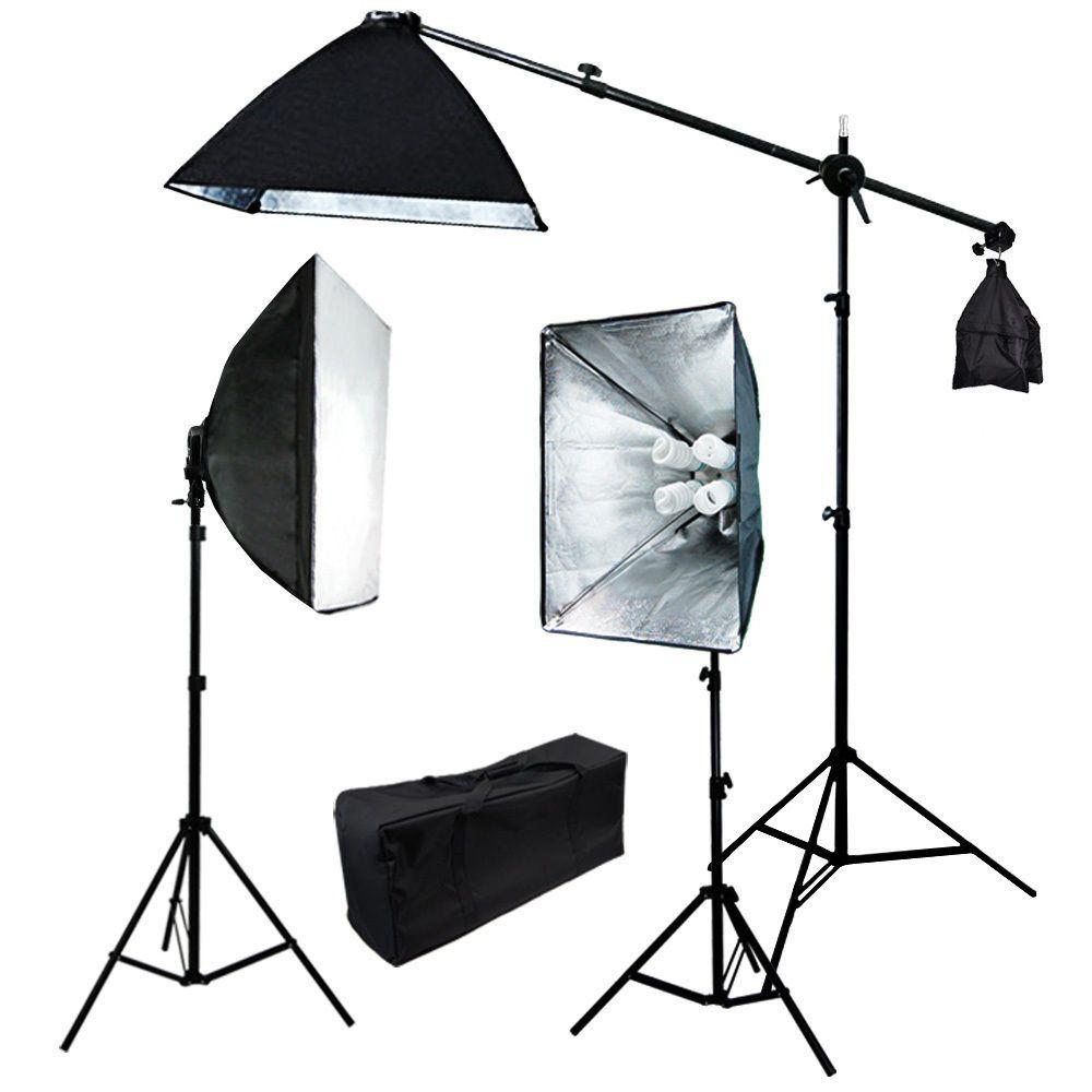 Kit Iluminação Studio Profissional Softbox Tripé e Lampada KIF0001
