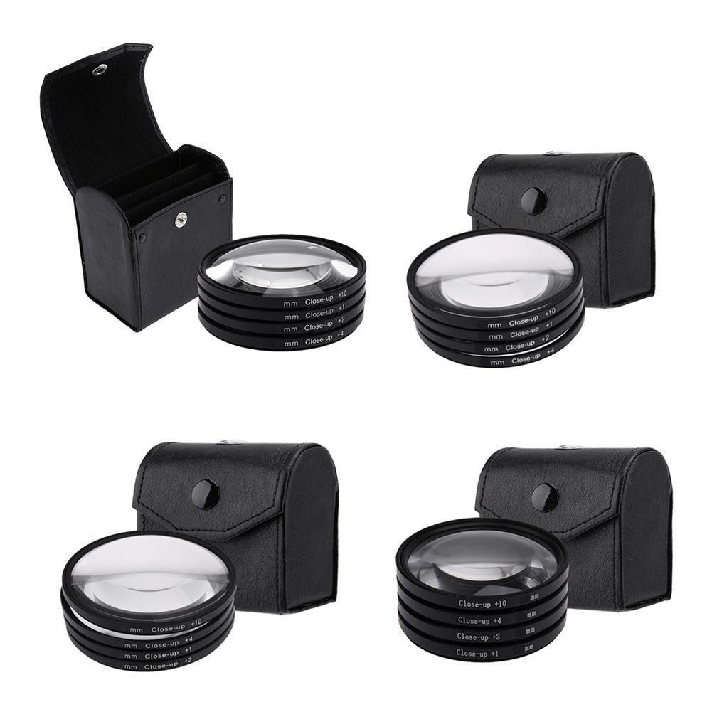 Kit Lentes Filtro Close Up Macro +1 +2 +4 +10 62mm