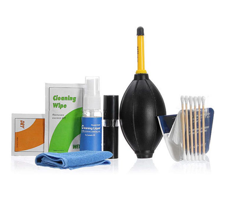 Kit Profissional De Limpeza 7 em 1 para Câmeras Lentes e Filtros