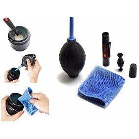 Kit Difusor Flash Speedlight 2 Lados + Kit Limpador Lente Lcd Fotográfica E Limpeza Ótica Kit 5 Em 1 + Alça de mão Hand Grip Câmera Dslr + Cartão Cinza Balanço Branco 3 Em 1