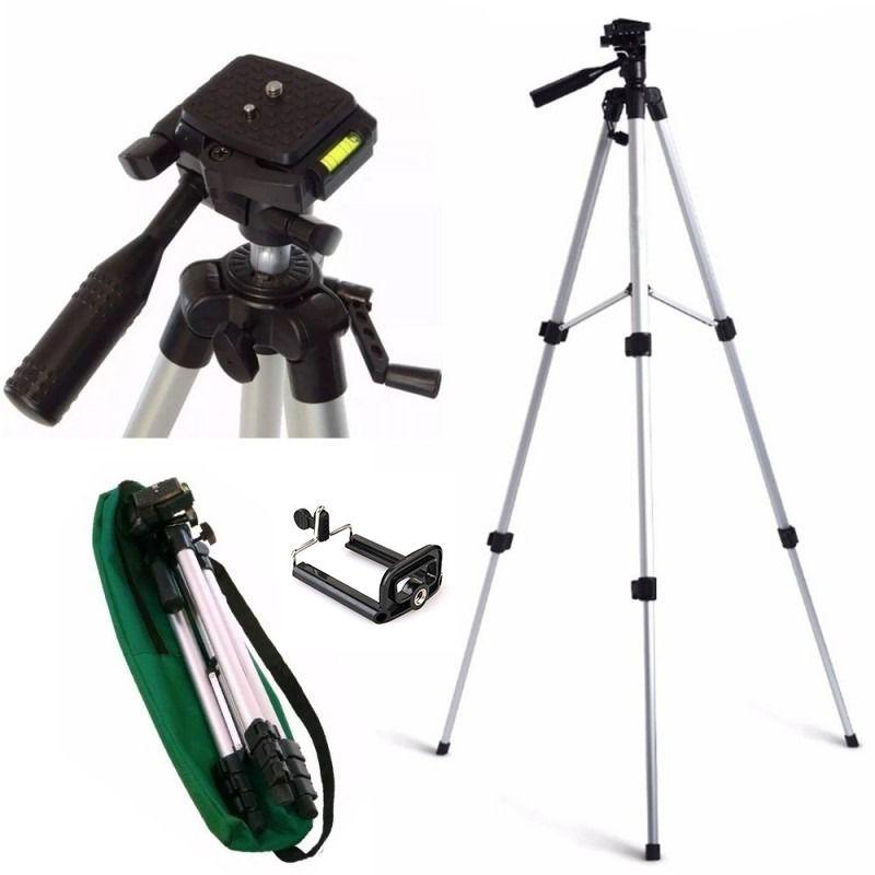 Kit Tripé Universal Até 1,20m P Câmera Celular + Case + Suporte adaptador