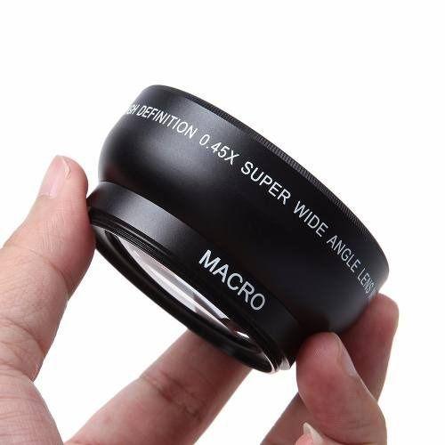 Lente Grande Angular Wide 0.45x 52mm + Macro Nikon 18-55mm