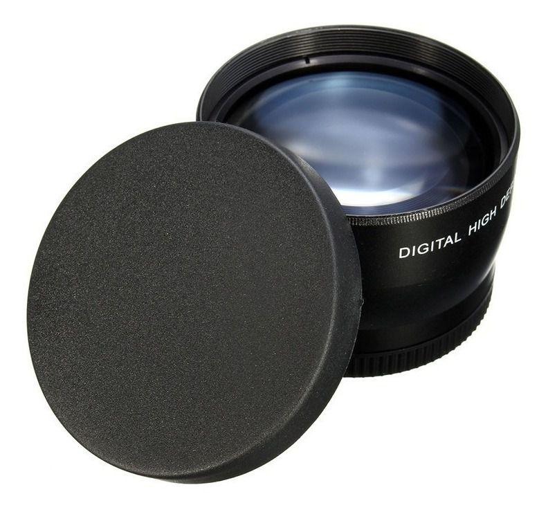 Lente Telephoto Digital 2x Câmeras Sony Canon Nikon De 72mm