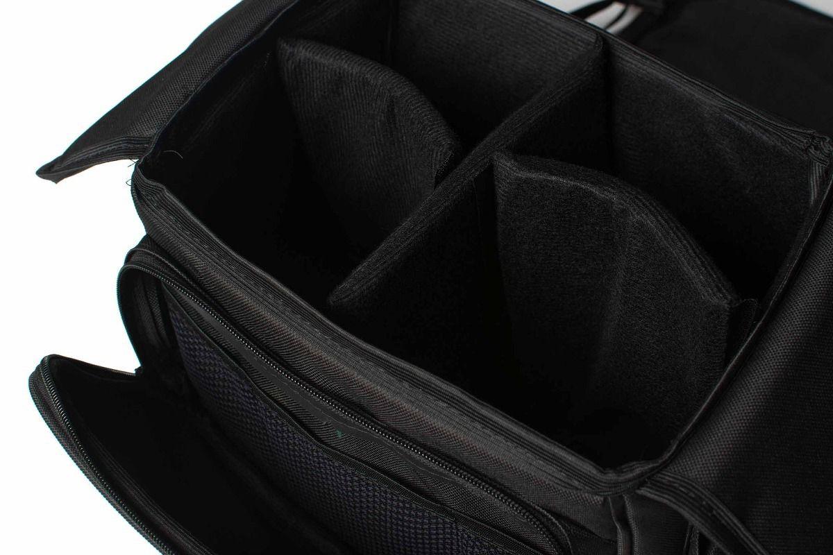 Maleta Super Bolsa Câmera Canon Nikon Profissional E Amadora