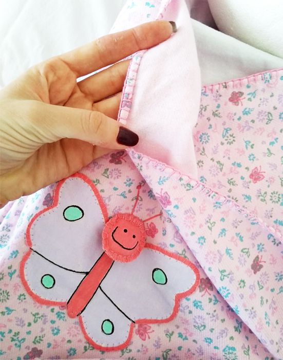 Manta de Flanela Bebê Interativa Pintada à mão Com Capuz 100% Algodão