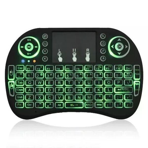 Mini Keyboard Teclado Sem Fio Wireless Iluminado Luz Led p/ smart tv