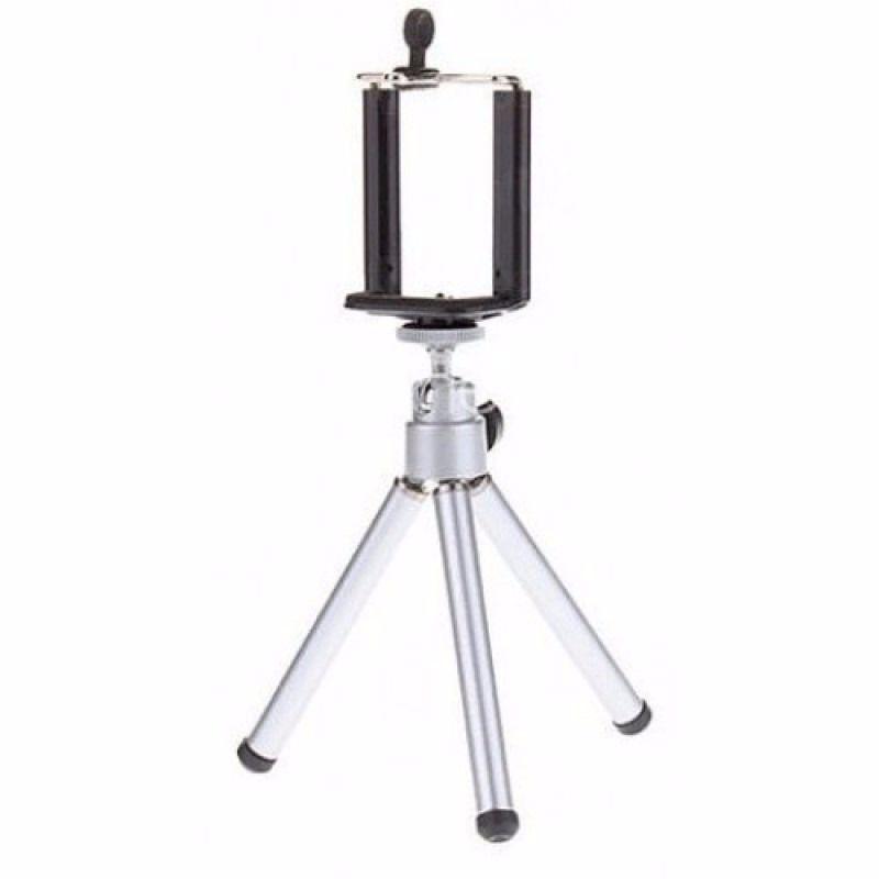 Kit Mini Tripé Metal Ajustável P/ Câmera Celular Tablet + Suporte Adaptador