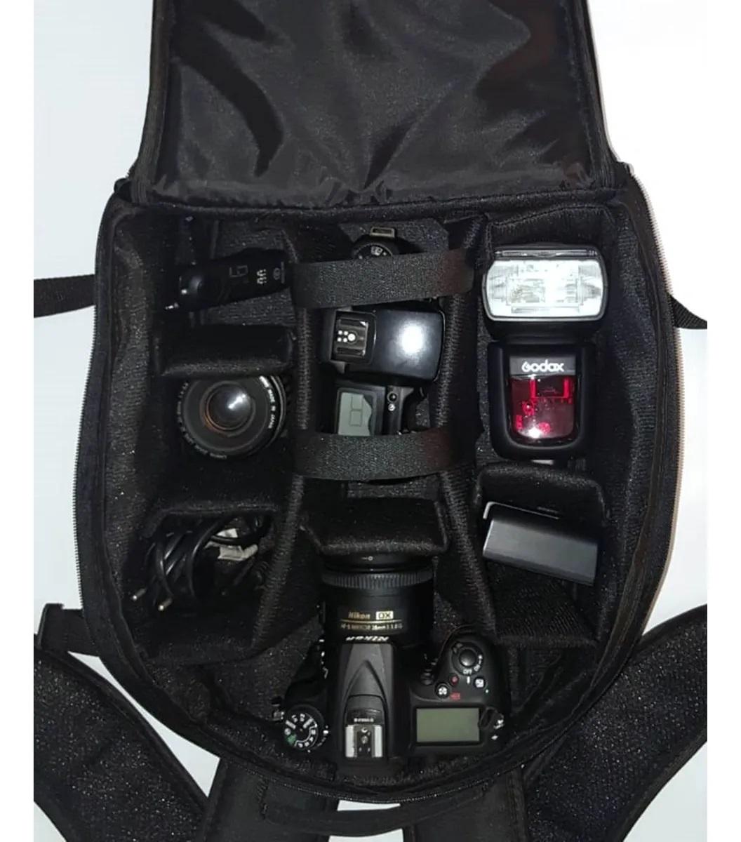 Mochila Pop Case P/ Câmera Dslr E Cameras Profissionais