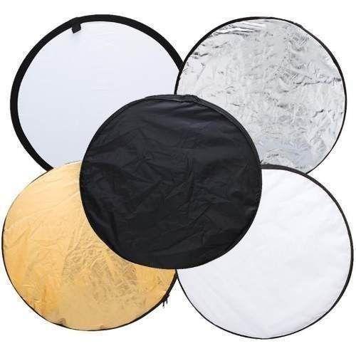 Rebatedor Difusor Refletor Circular 5 Em 1 de 80cm Para Foto e Vídeo