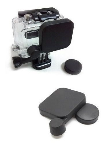 Kit Tampa Capa Protetora De Lente Case Housing Gopro Hero 3
