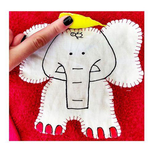 Toalha de Banho Piscina Infantil Criança Interativa Pintada à Mão Com Capuz 100% Algodão