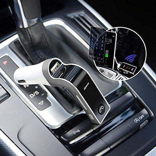 Transmissor Fm Veicular Com Bluetooth Carg7 Carro Mp3 Usb Sd - Prateado