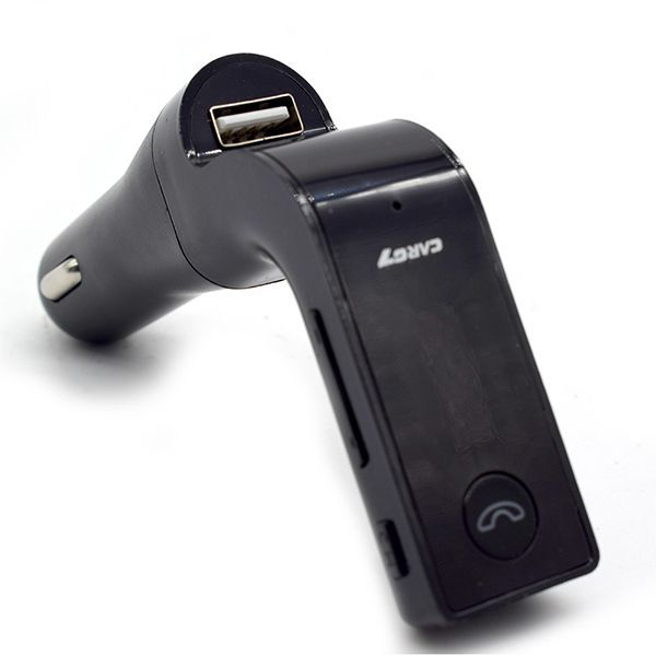 Transmissor Fm Veicular Com Bluetooth Carg7 Carro Mp3 Usb Sd - Preto