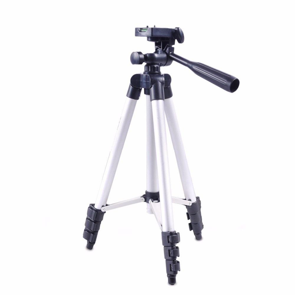 Tripé Universal Alumínio Ajustável Até 1,20m P Câmera + Case