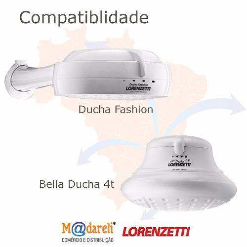 Resistência Bella Ducha 4T e Ducha Fashion 220v 6800w Lorenzetti