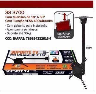 """Suporte TV Teto Reclinável De 19"""" a 50"""" SS3700 Sulforte"""