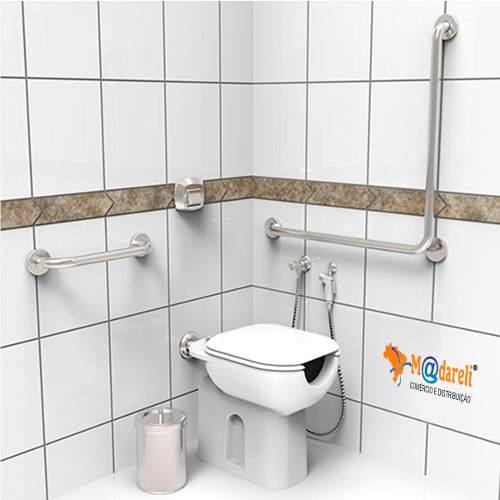 Barra de Apoio para Banheiro e escada Cromada Reforçada