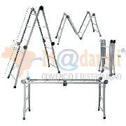 Escada Articulada de Ferro Multifuncional 12 Degraus Cadioli