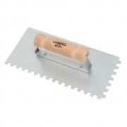 Desempenadeira Dentada Aço 12 x 25cm Cabo Madeira - Compel