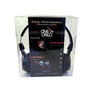 Fone de Ouvido Profissional Personalizável Preto - Onbongo