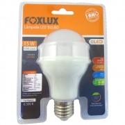 Lâmpada Luz Branca Led Bulbo Bivolt 15W Foxlux