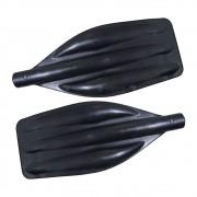 Pá De Remo Preta Para Barco Ou Caiaque 42x18cm Kit 2 Unid.