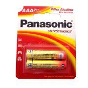 Pilha Alcalina Palito AAA 2 Unidades - Panasonic