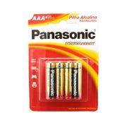 Pilha Alcalina Palito AAA 4 Unidades - Panasonic