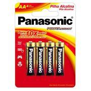 Pilha Alcalina Pequena AA 4 Unidades - Panasonic