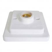 Plafon Quadrado Bocal Porcelana E27 100W Branco - OPL