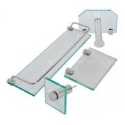 Porta Xampu, Saboneteira Retangular, Toalha Rosto, e Papel Higiênico
