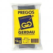 Prego 17x27 1.1/2x11 Com Cabeça 1kg - Gerdau