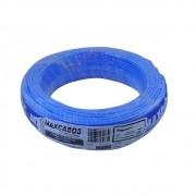 Fio Cabo Flexível  1,5mm 450/750 Volts 100m Azul-Maxcabos