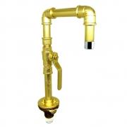 TORNEIRA DESIGN INDUSTRIAL PVC REGISTRO ESFERA 1/2 - DOURADA